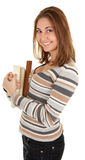 Young girl with book in the hand Stock Photos