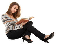 Young girl with book in the hand Royalty Free Stock Images