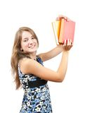 Young girl with books Royalty Free Stock Photo