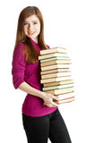 Young girl with books Stock Image