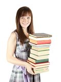Young girl with books Stock Images