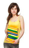 Young girl with books Royalty Free Stock Image