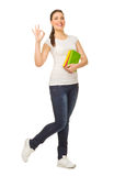 Young girl with books Stock Photography