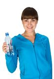 Young girl with bottle of water. Young sportive girl with bottle of water Stock Images