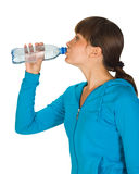 Young girl with bottle of water Stock Image
