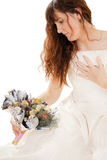 Young girl with a bouquet Stock Photo