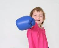 Young girl boxer Royalty Free Stock Photos