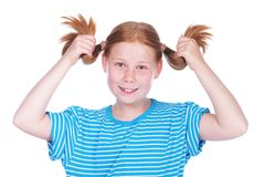 Young girl with braids Stock Photography