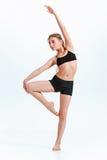 Young girl break dancing royalty free stock images