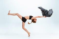 Young girl break dancing. Young girl break or hip hop dancing at stidio Stock Photos