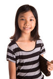 Young Girl With Brown Purse IV Stock Images