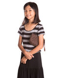 Young Girl With Brown Purse VI Royalty Free Stock Images