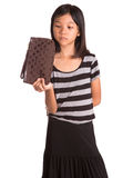 Young Girl With Brown Purse VIII Stock Images