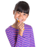 Young Girl Brushing Teeth IV Royalty Free Stock Photography