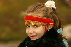 Young girl on the Bulgarian Festival of the Rose Stock Photos