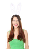 Young girl with bunny ears Royalty Free Stock Images