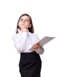Young girl business Stock Image