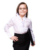 Young girl business Stock Photos