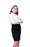 Young girl business Stock Images