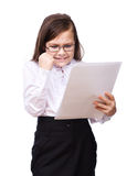 Young girl business Royalty Free Stock Photos