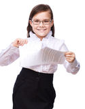 Young girl business Stock Photo