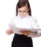 Young girl business Royalty Free Stock Images
