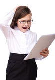 Young girl business Royalty Free Stock Image