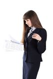 Young Girl In Business Suit Royalty Free Stock Images