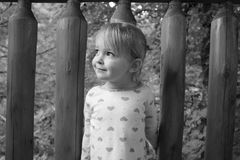 A young girl at a cabin Royalty Free Stock Photo