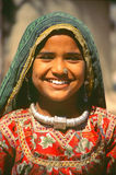 Young girl at Camel fair, Jaisalmer, India Royalty Free Stock Photos