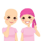 Young Girl With Cancer stock illustration
