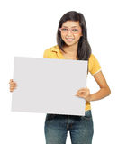 Young girl with card Stock Image