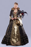 Young girl in carnival costume middle age Royalty Free Stock Photography