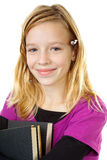 Young girl carry books Stock Photography