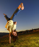 Young Girl Cartwheel Stock Photos