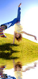 Young Girl Cartwheel Royalty Free Stock Photo