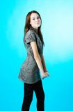 Young Girl in Casual Clothes Royalty Free Stock Image