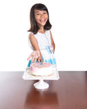 Young Girl Celebrate Birthday VI Royalty Free Stock Image