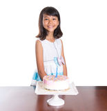 Young Girl Celebrate Birthday VIII Stock Photography