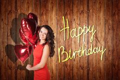 Young girl celebrate happy birthday. Stock Images
