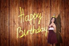 Young girl celebrate happy birthday. Stock Photo