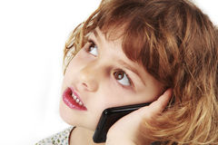 Young girl on cell phone Stock Photography