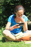 Young girl  with cellphone Royalty Free Stock Images