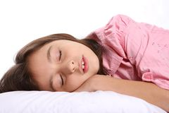 Young Girl / Child Sleeping Stock Photo
