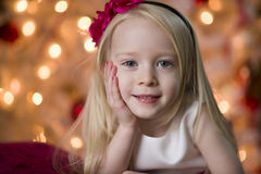 Young girl Christmas smile Royalty Free Stock Photo