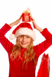 Young girl at christmas time Royalty Free Stock Photography