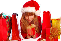 Young girl at christmas time Stock Photography