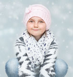 Young girl in Christmas time Stock Photo