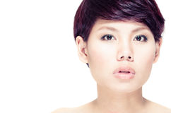 Young girl with clean skin Stock Photo
