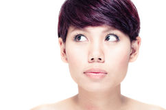 Young girl with clean skin Stock Image